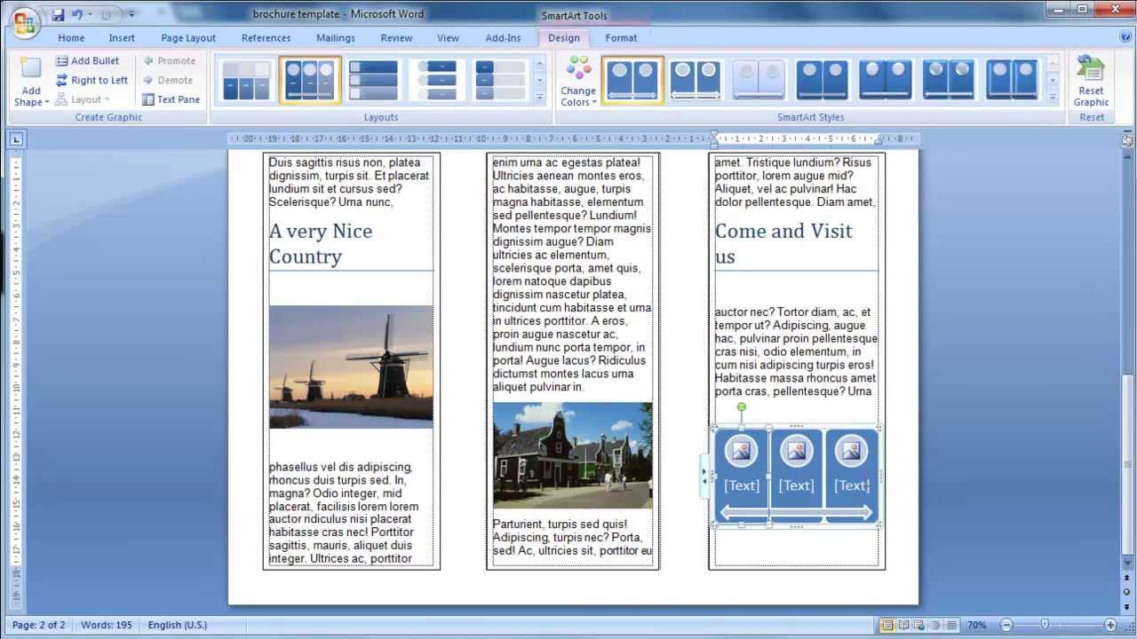 Comment faire une brochure sur word for How to get a brochure template on microsoft word 2010